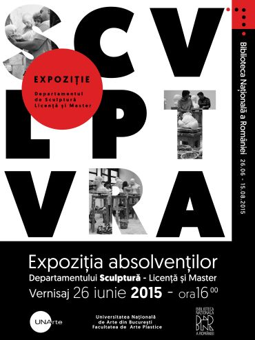 GENERATII INTRE TRADITIE SI INOVATIE – expozitia sculptorilor absolventi ai UNARTE 2015