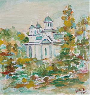 anira radulescu jianu peisaj biserica