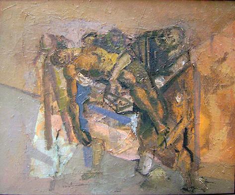 adina romanescu Studiu dupa Tintoretto