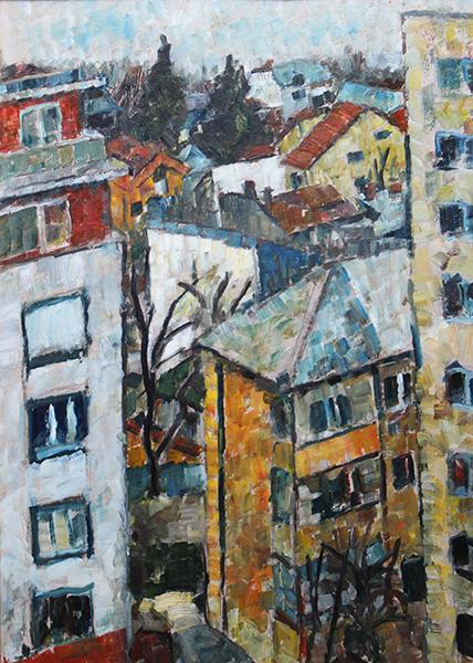 Daniel Turliu Peisaj de pe fereastra parintilor