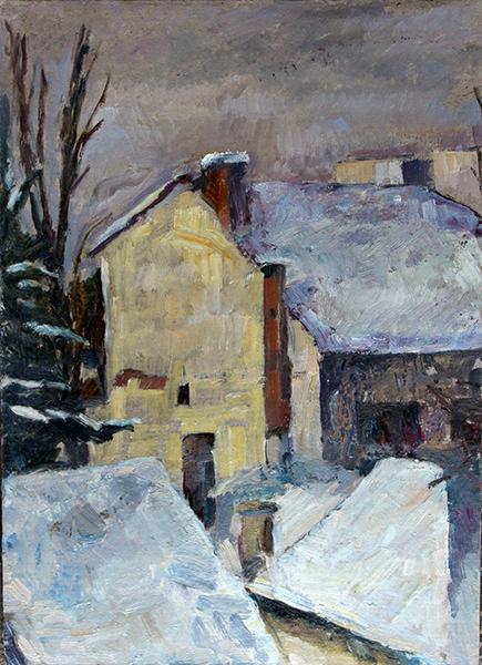 Daniel Turliu Peisaj din atelierul de pictura