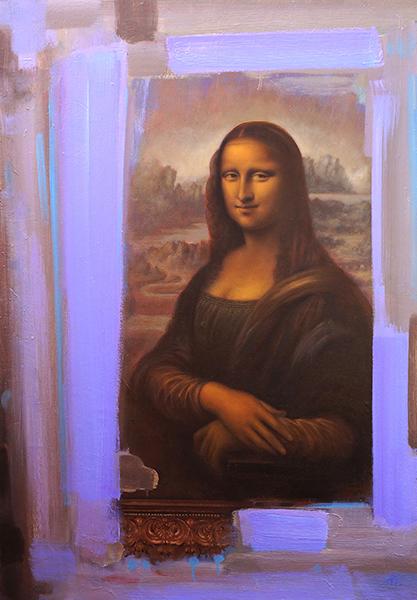 cadru pentru o pictura celebra - aurelian broasca