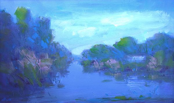 Înserare în Deltă-aurelian-broasca