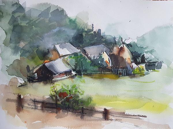 cristina grigorescu, Imagini din sat