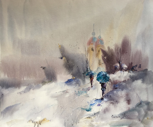 023. Iulia Cârchelan - FULGI ALBAȘTRI - format 26x32 cm