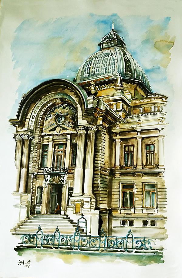 074. Aneta Filip - PALATUL CEC București - format 58x80 cm
