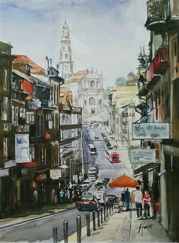 142. Paul Stoica - Oporto - format 40x50 cm