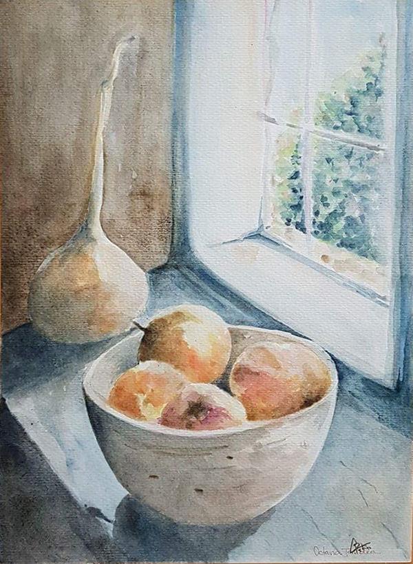 154. OCTAVIA TANDEA - Lumină și parfum la fereastra bunicii - format 40x50 cm