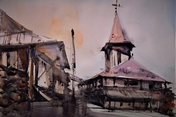 Biserica din sat Mircea Corcodel