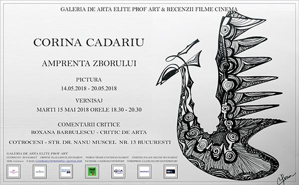 188. INVITATIE - CORINA CADARIU - PICTURA SI GRAFICA - 09.05.2018