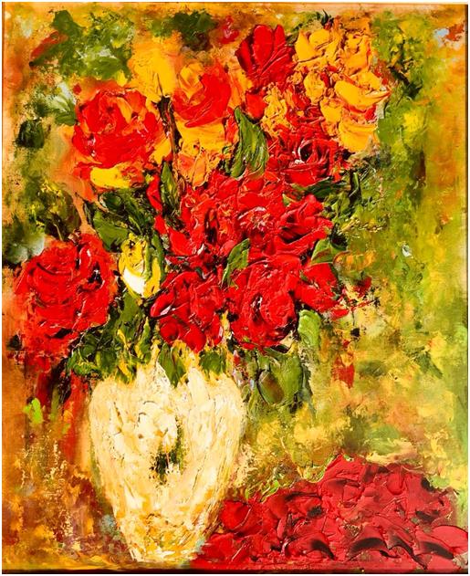 sa pictezi flori, cu parfumul lor cu tot