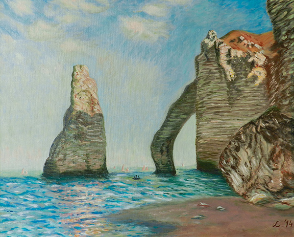 Study of The rocks at Etretat