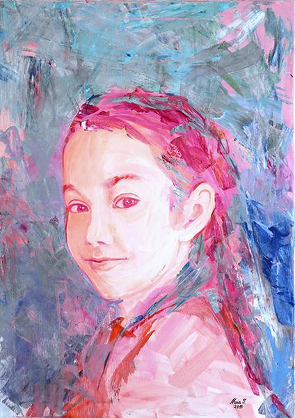 Autoportret, 2019 , acril pe panza